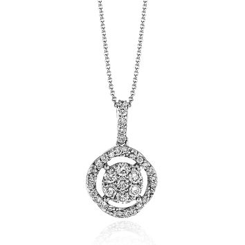 14k White Gold .24ct Diamond Necklace