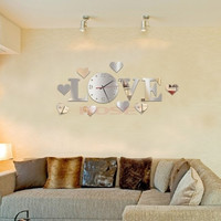 Creative Big DIY 3D Digital Mirror Sticker Wall Clock Modern Art Wall Clocks Watch Unique Gifts Home Decoration SV006061|26601 (Size: 1) = 1745337924