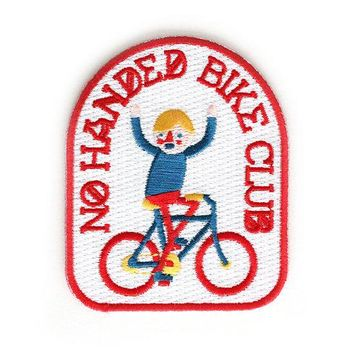 No Handed Bike Club Iron On Patch