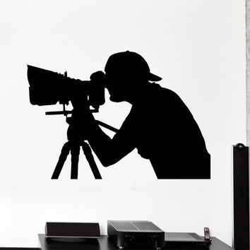 Vinyl Wall Decal Photographer Photo Art Studio Camera Stickers Unique Gift (ig4701)