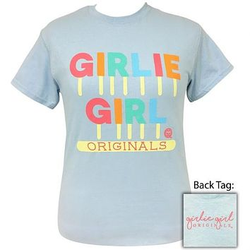 Girlie Girl Originals Preppy Popsicle Light Blue T-Shirt