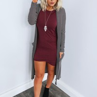 Go A Long Way Cardigan: Black/White