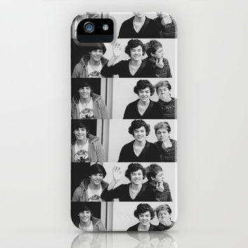 One Direction - Louis Tomlinson, Harry Styles, and Niall Horan - B&W iPhone & iPod Case by amy.