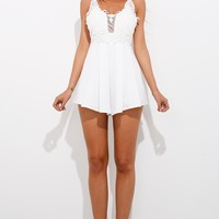 Rebound Playsuit White