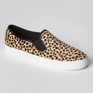 Gap Women Calf Hair Slip On Sneakers