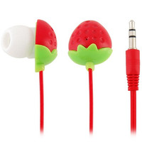 Strawberry 3.5 mm Plug In-ear Style Earphone for iPhone (Red)