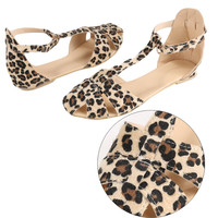 Leopard Print Flat Heel Shoes