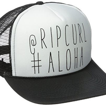 Rip Curl Junior's Shout Out Trucker Hat, Black, One Size