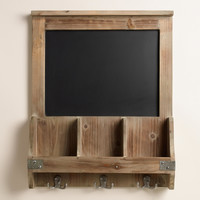 Elliot Chalkboard Cubby and Hook Wall Storage - World Market