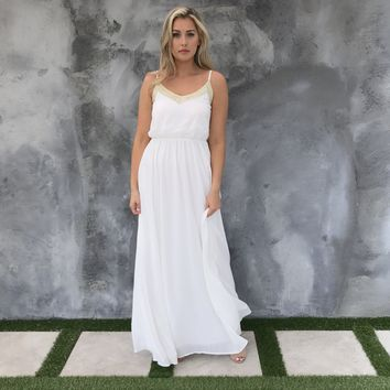 Golden Goddess White Maxi
