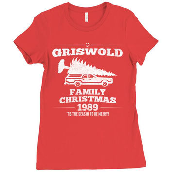Griswold Family Christmas Ladies Fitted T-Shirt
