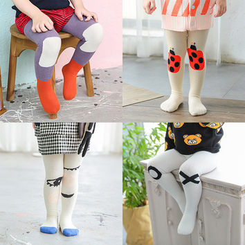 Cotton Kids Cartoon Tights 2017 Autumn and Winter Children's Fashion and Lovely Stockings For Boys And Girls