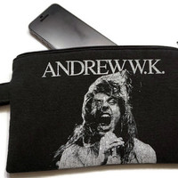 Andrew W.K. Bag Upcycled T-shirt Clutch