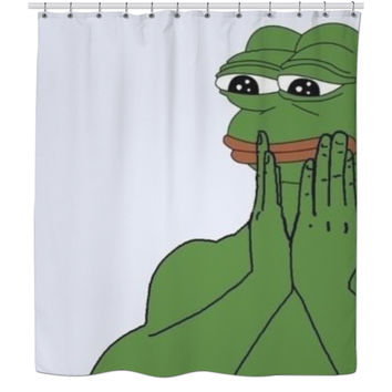 Pepe the Frog shower curtain