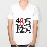 Lost T-Shirt, V Neck, Unisex, The numbers, Dharma, Television, TV, Pop Culture, 4815162342, show, Hurley, Hugo, Sawyer, Jack, Kate, Oceanic