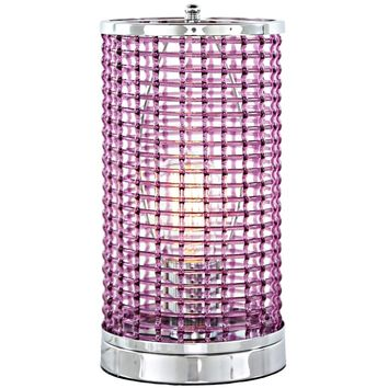 Purple Acrylic Caged Uplight Accent Lamp with Chrome Base | Overstock.com Shopping - The Best Deals on Table Lamps