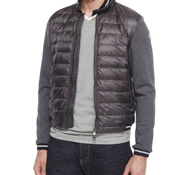 moncler grey quilted jacket
