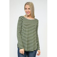 Rad Ribbed Striped Tunic Top