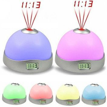 Good  Quality New 7 Colors LED Change Star Night Light Magic Projector Backlight Clock