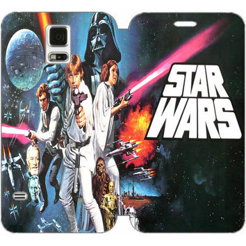Star Wars Wallet Case w/ Stand Flip Cover for Samsung Galaxy S5