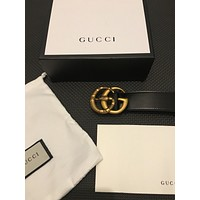 gucci belt black leather snake buckle