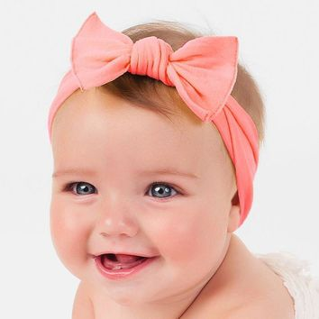 Baby cotton bow headband