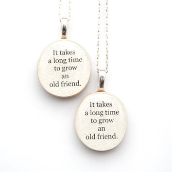 Best friend necklace set , best friend gift,  Christmas gift gift for best friend, going away gift, BFF necklaces , friendship gift