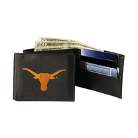 University of Texas Longhorns Bifold Leather Wallet (Orange)