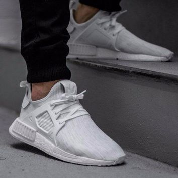 Best Online 2017 Adidas NMD XR1 Primeknit PK Triple White - BB1967 Sport Running Shoes