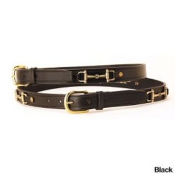 Tory Leather 1 Inch Snaffle Bit Belt