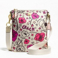 NWT Coach Kyra Swingpack Crossbody Purse Bag Floral Print F47317 | eBay