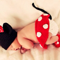 Kutsie Baby Crochet Minnie Mouse 5 Piece Set