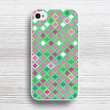 Girly Moroccan Lattice Pattern in Pink, Mint, Emerald Green & White case iPhone 4s 5s 5c 6s 6 Plus Cases, Samsung Case, iPod 4 5 6 case, HTC case, Sony Xperia case, LG case, Nexus case, iPad case