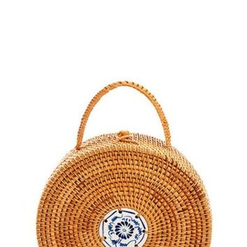 Designer Hot Trendy Structured Round Woven Bag