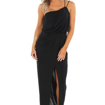 Strappy One Shoulder Gown