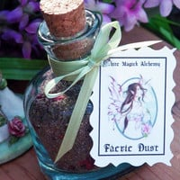 Magickal Blessed Faerie Dust with Crystal Sugar . For Sprinking, Spellworkings, Wishes, Faerie Offerings