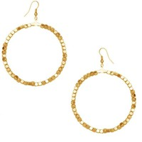 Karine Sultan Large Beaded Hoop Earrings
