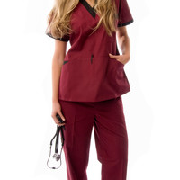 Women's V-Neck Women's Scrubs Uniform