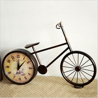 Vintage Weathered Iron Bicyclex Home Accessory Decoration Creative Clock [6282698630]