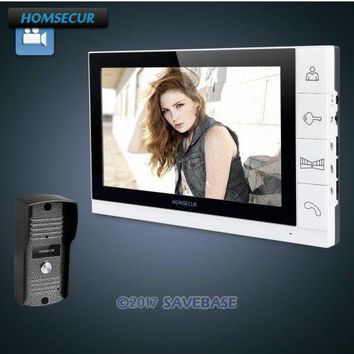 "HOMSECUR 9"" Wired Video Door Phone Home Intercom 1X Recording Monitor 1X 700TVL Camera"