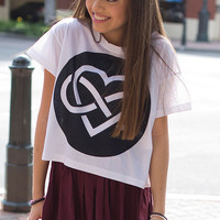 infinite love Crop Shirt