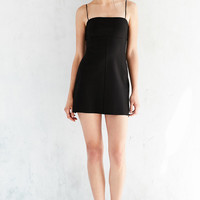 Silence + Noise Audrey Black A-Line Mini Slip Dress | Urban Outfitters