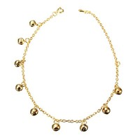 Women Golden Bell Chain Anklet Jewelry