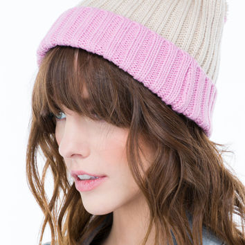 Two-Tone It Up Knit Beanie