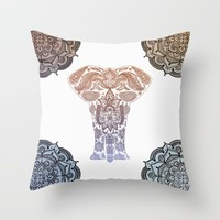 Decorative Elephant  Throw Pillow by Inspired Images