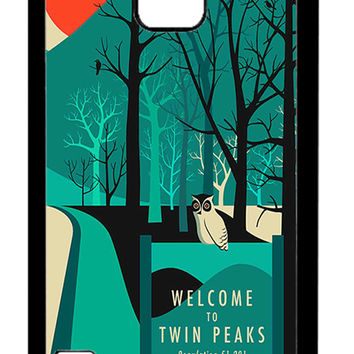 Twin Peaks Welcome To Twin Peaks Samsung Galaxy S5 Cases - Hard Plastic, Rubber Case