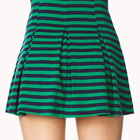 Mod Striped A-Line Skirt