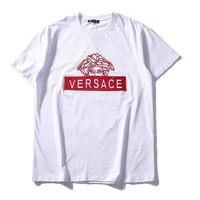 Versace new fashion letter print short-sleeved top White