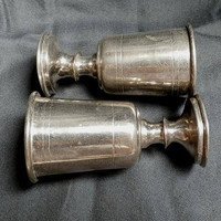 Small Goblet, Antique Traditional Kiddush Cup Metal Cup, Vintage  Wine Cup, Judaica, Silver plated