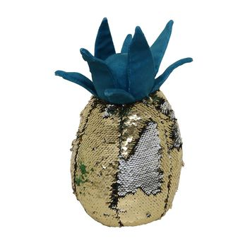 Brentwood Pineapple-Shaped Sequin Throw Pillow